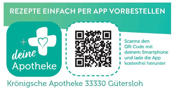 Rezepte per App vorbestellen - QR Code